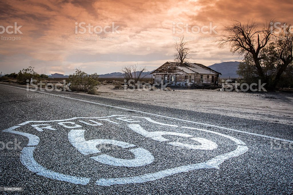 Route 66 House stock photo