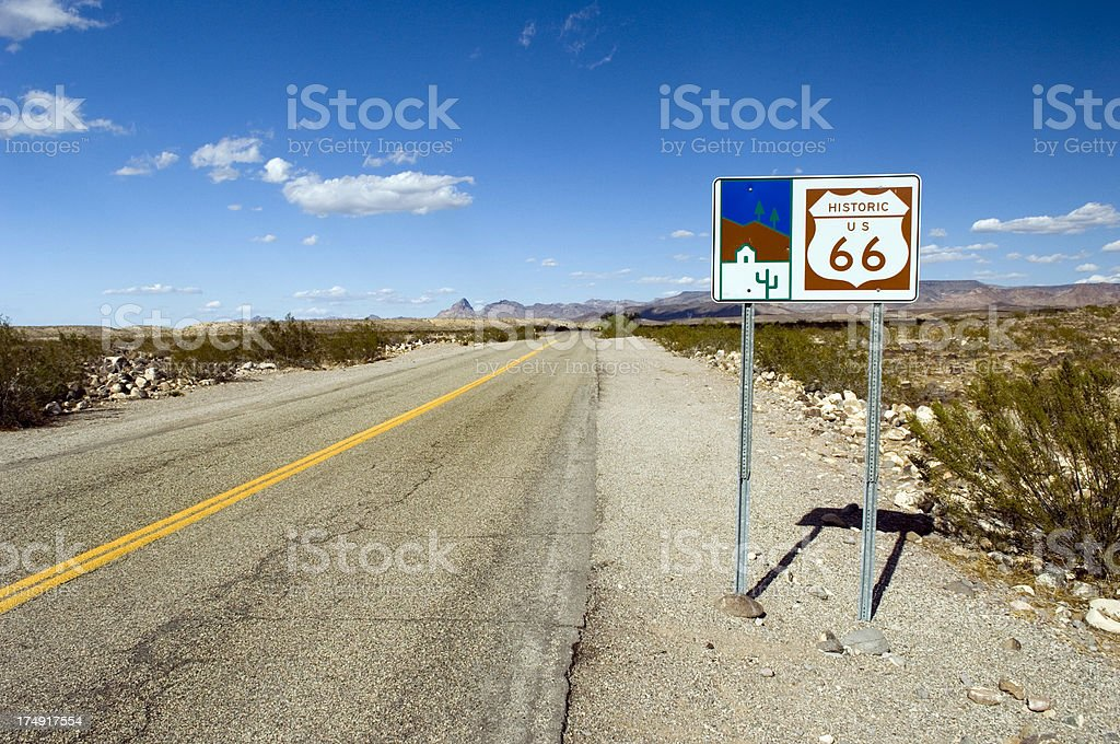 Route 66 in Arizona royalty-free stock photo