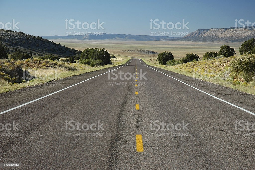 Route 66 in northern Arizona royalty-free stock photo