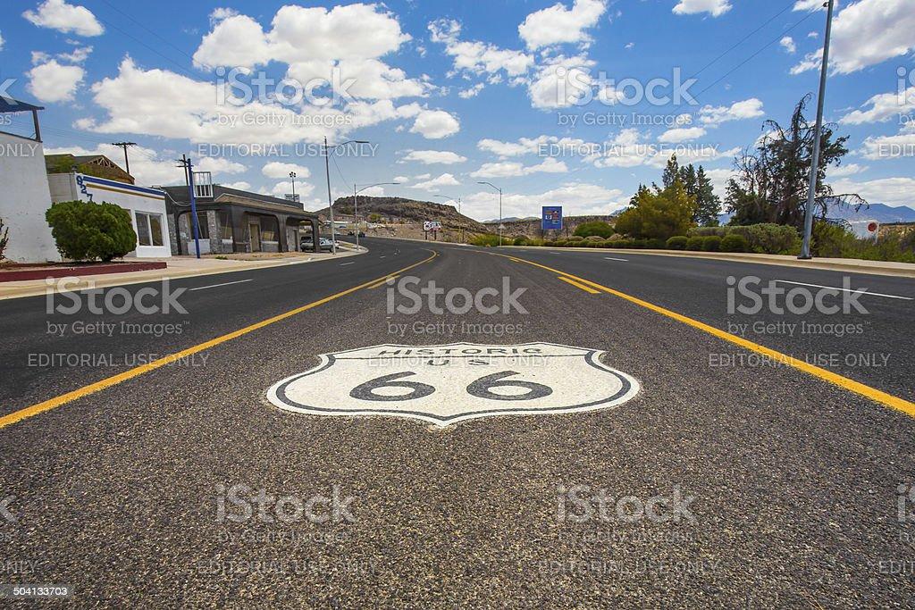 Route 66 Kingman AZ stock photo