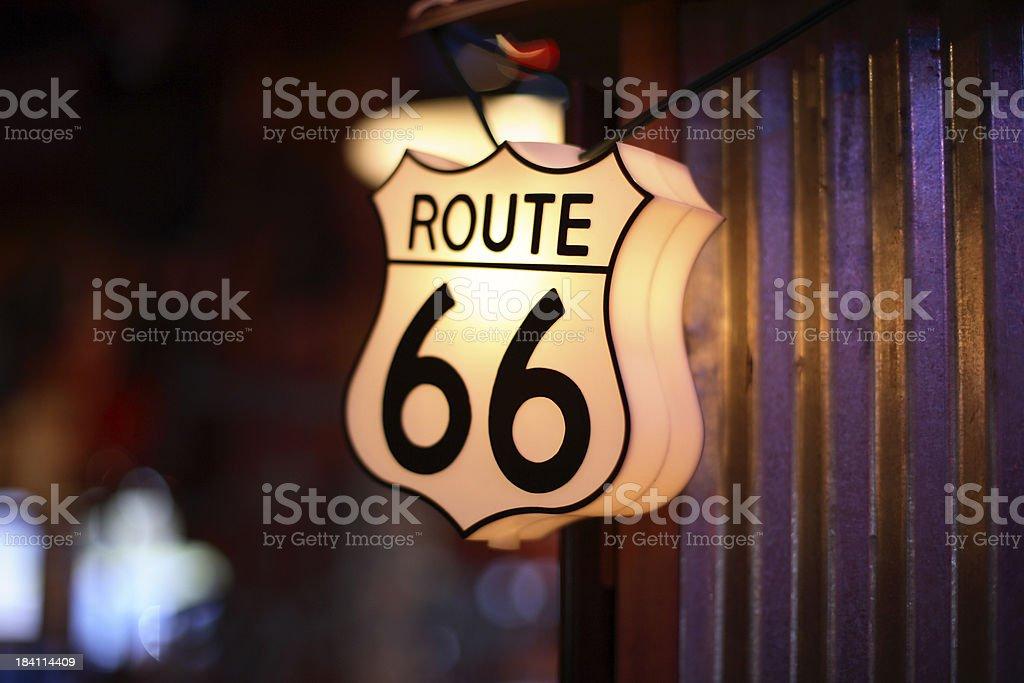 Route 66 Light royalty-free stock photo