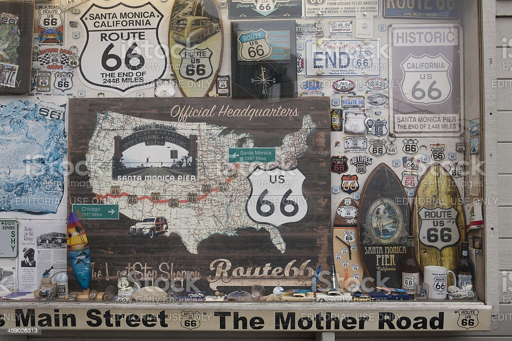 Route 66 Memorabilia stock photo
