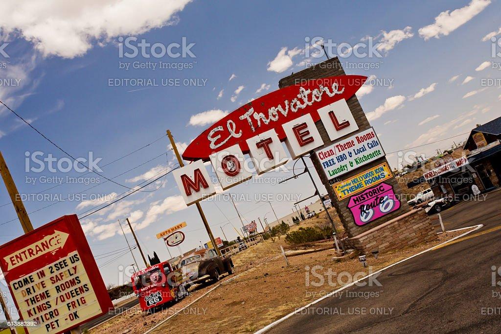 Route 66 Motel stock photo