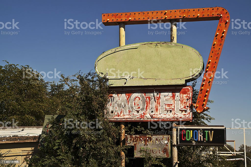 Route 66 Motel Sign royalty-free stock photo