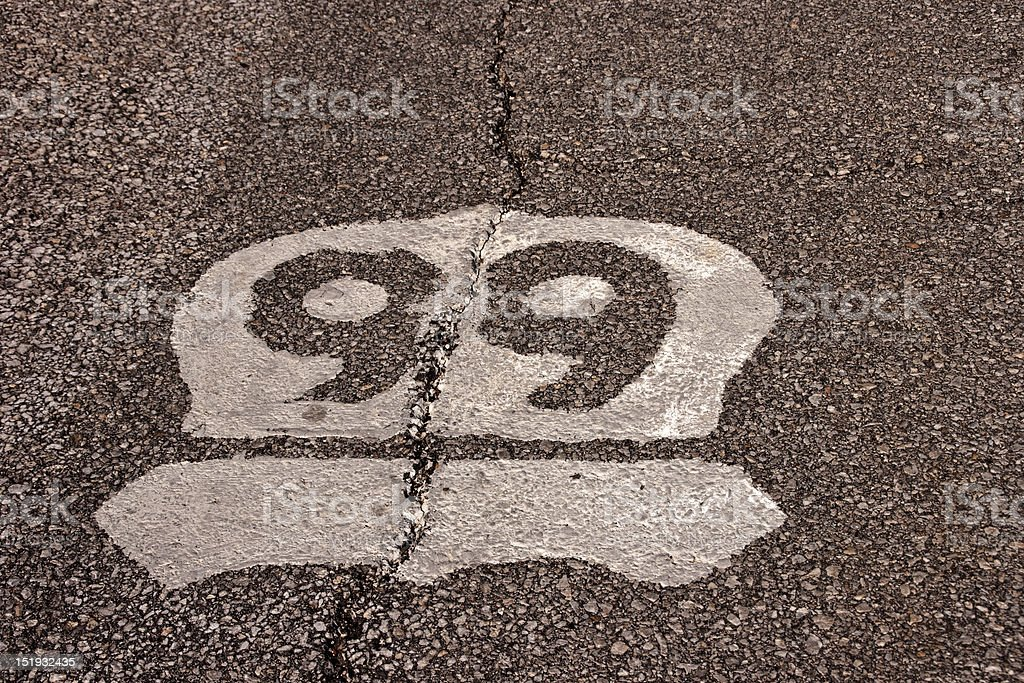Route 66 Road Sign royalty-free stock photo