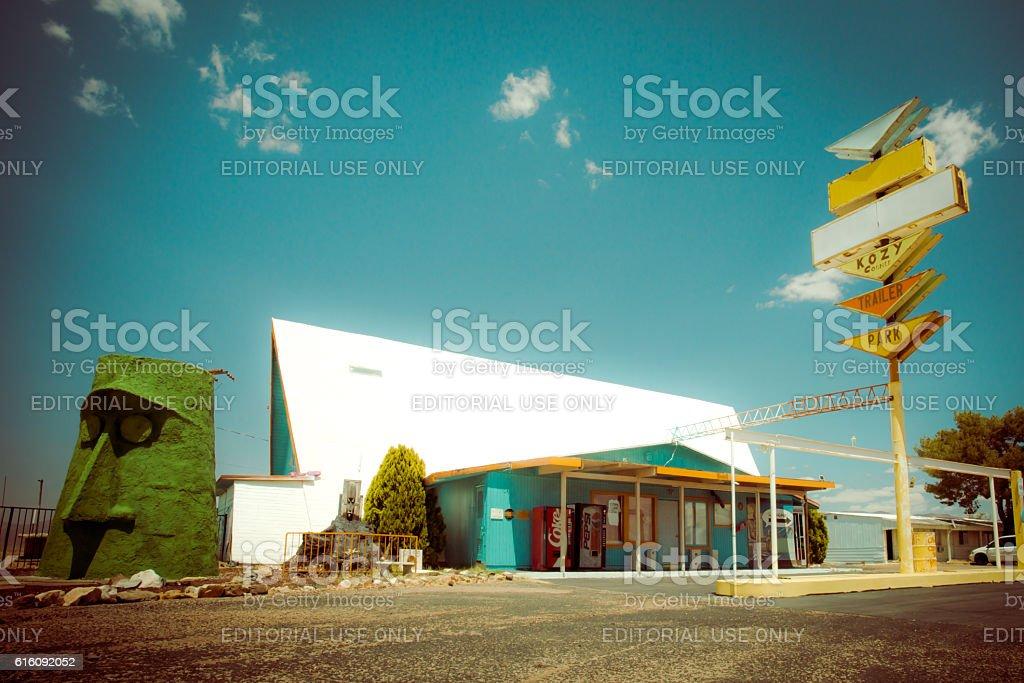 Route 66 Roadside Architecture stock photo