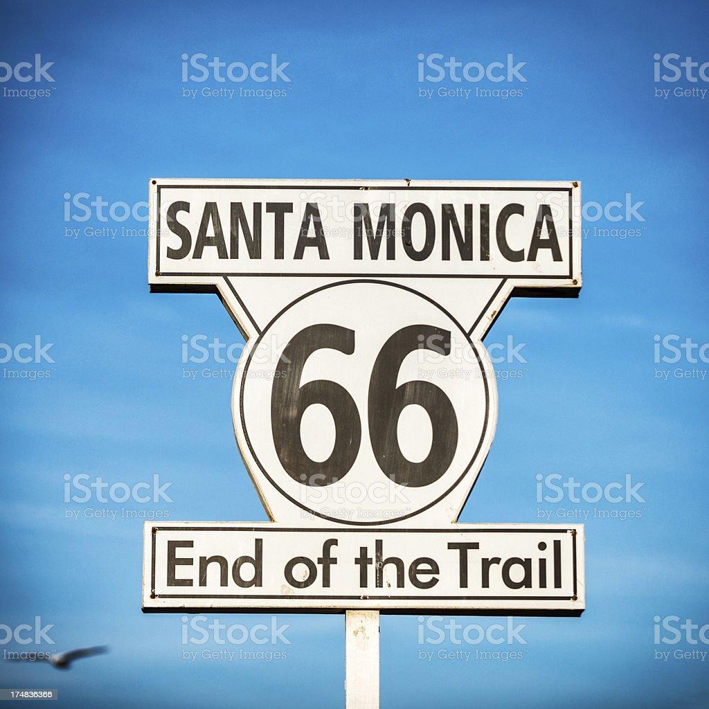 Route 66 Santa Monica royalty-free stock photo