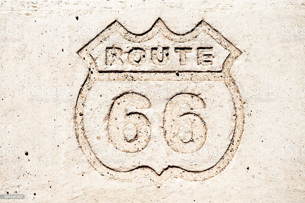 Route 66 shield, AZ, US stock photo