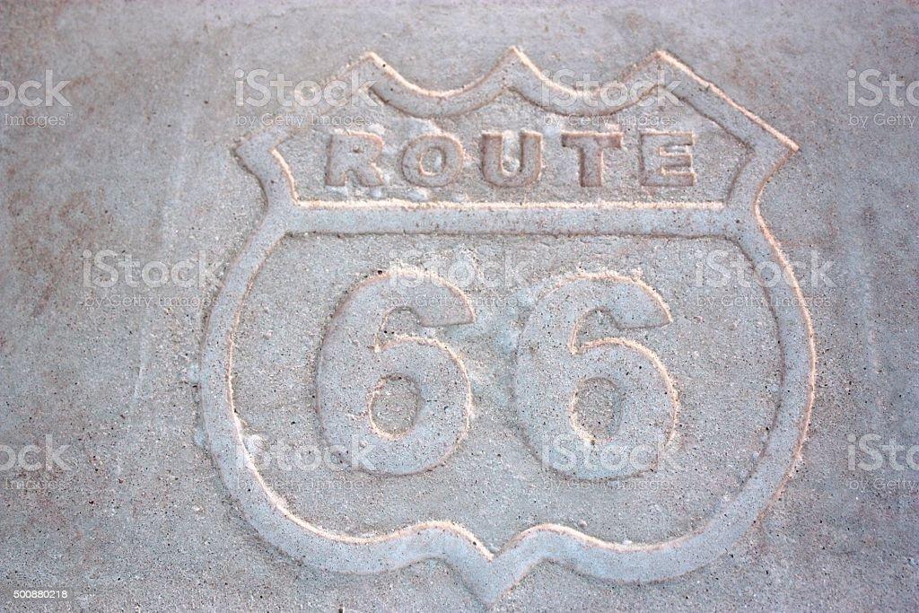 Route 66 sign in Arizona, USA stock photo