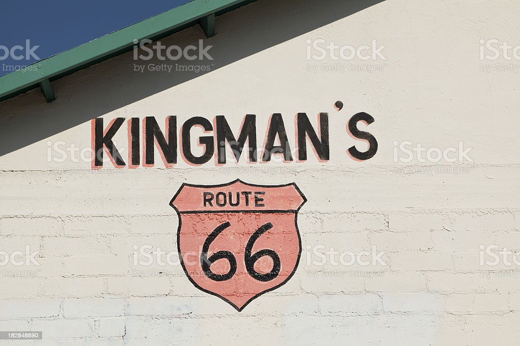 Route 66 Sign, Kingman Arizona stock photo
