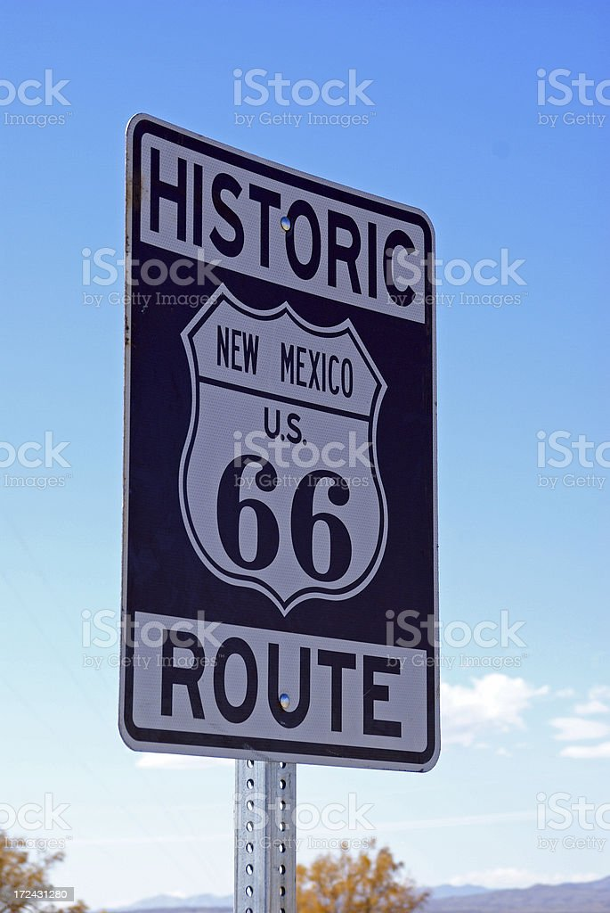 Route 66 Sign royalty-free stock photo