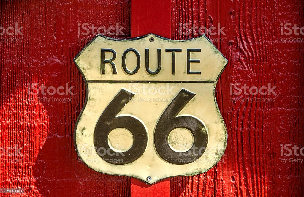 US Route 66 Sign stock photo