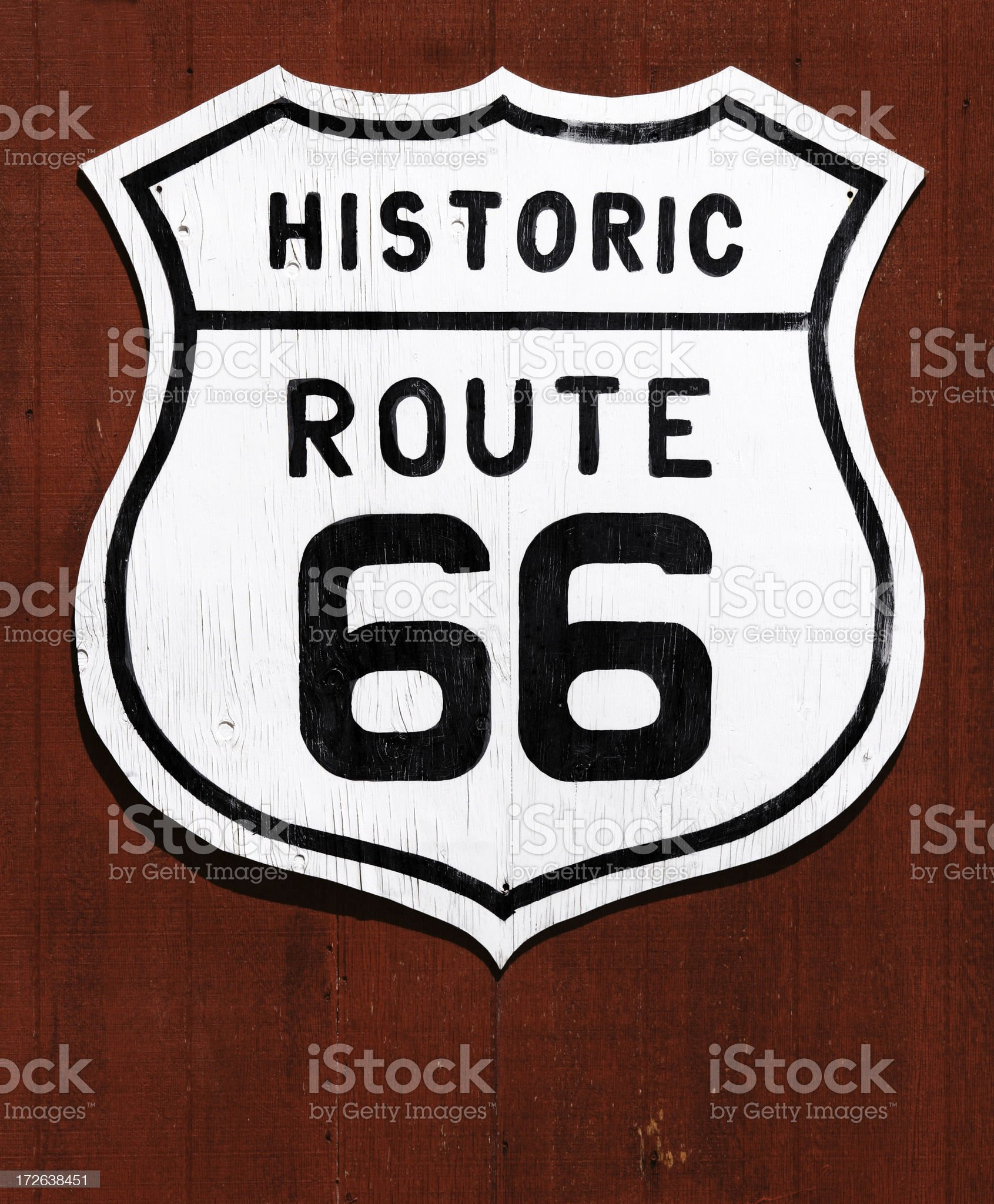 US Route 66 Signpost royalty-free stock photo