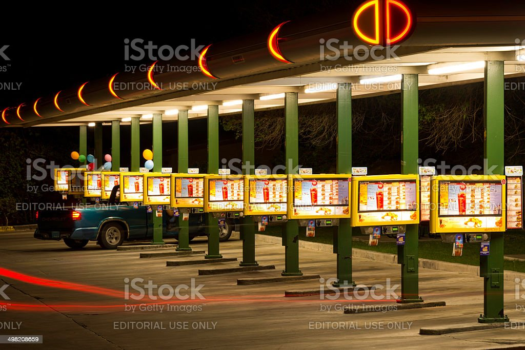 Route 66 Sonic Drive-In Restaurant - Albuquerque New Mexico stock photo