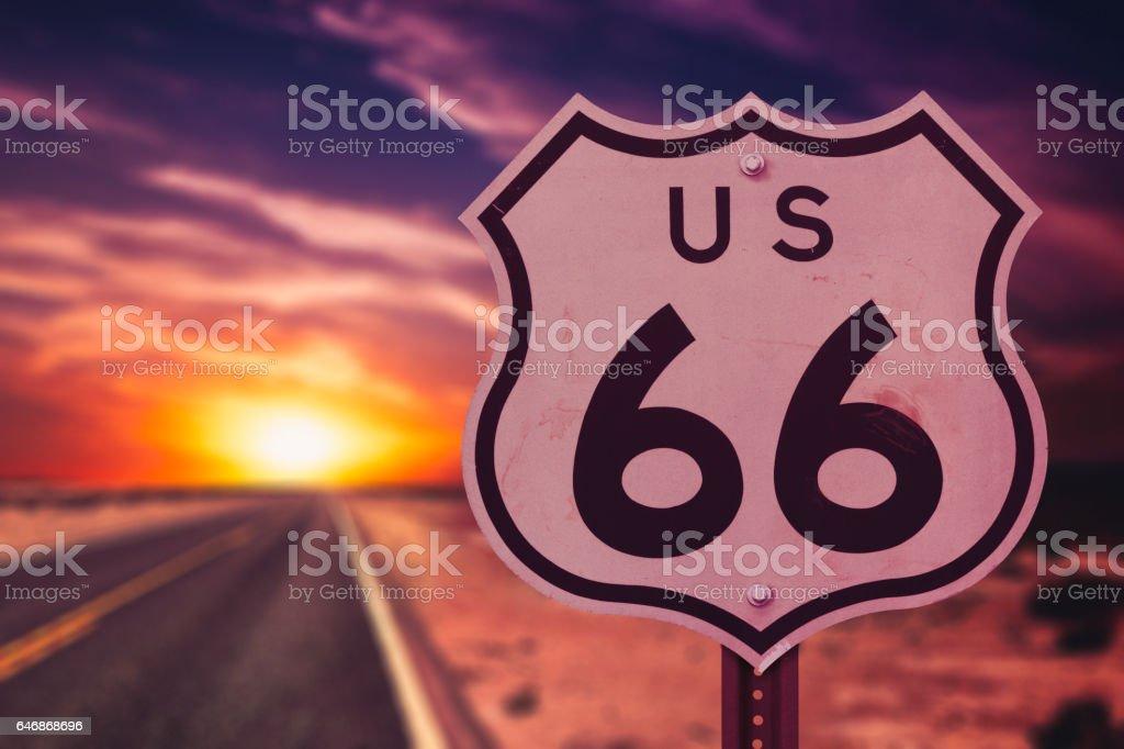 Route 66 through the United States stock photo
