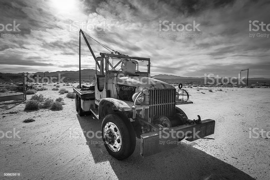 Route 66 Tow Truck stock photo
