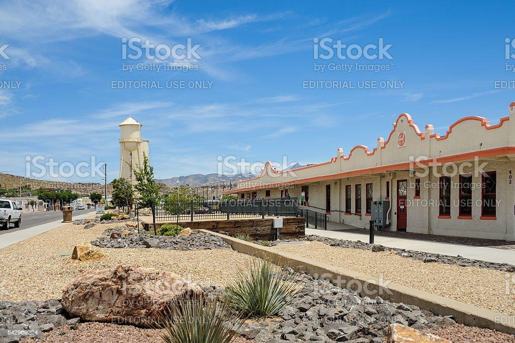 Route 66, train station, Kingman, AZ, USA stock photo