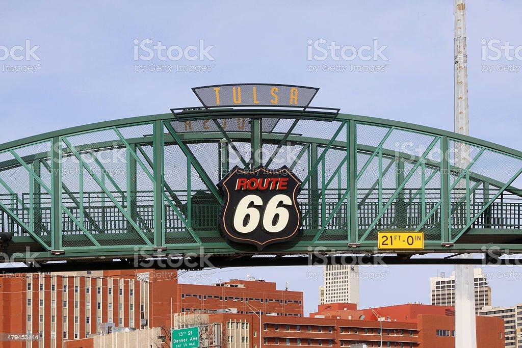 Route 66-Tulsa Oklahoma stock photo