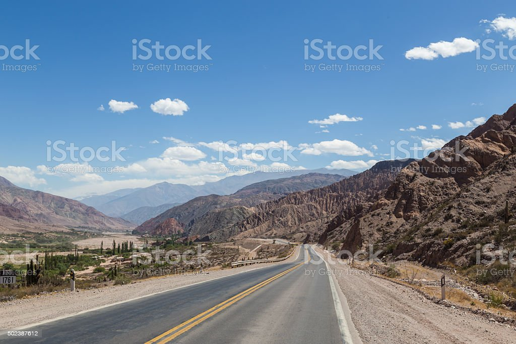 Route 9 in Northwest Argentina stock photo