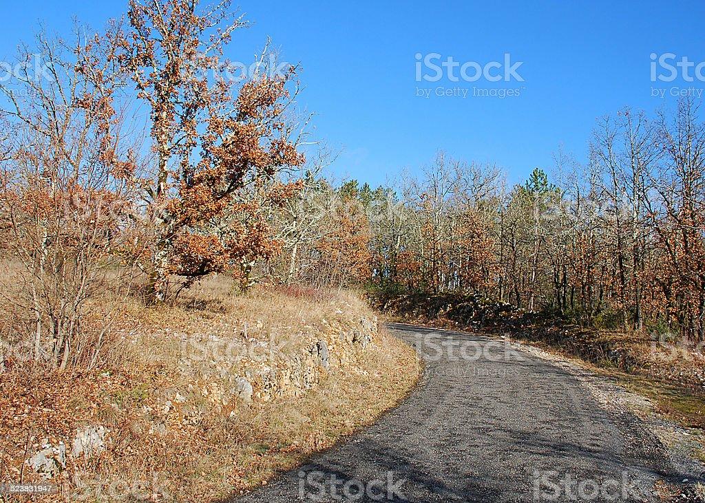 route du Quercy stock photo