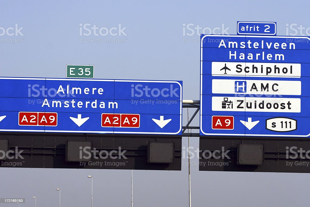 Route indication royalty-free stock photo