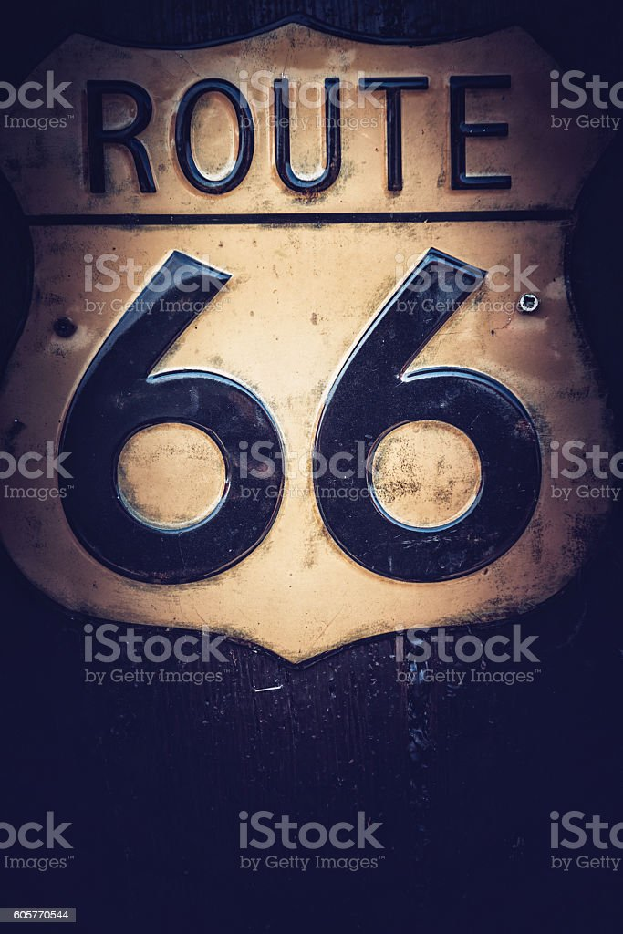 Route US 66 stock photo