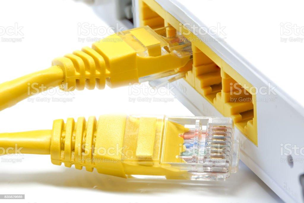 router Wireless  LAN White background stock photo
