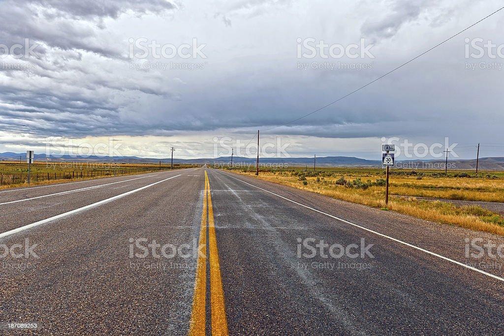 U.S. Routes 30 in Utah USA royalty-free stock photo