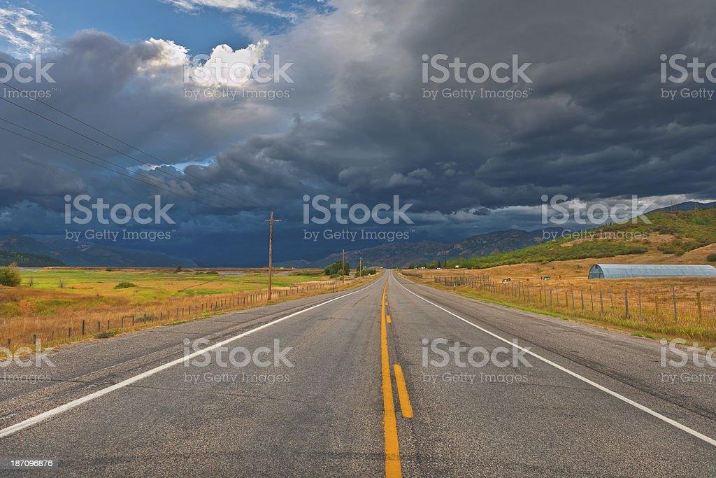 U.S. Routes 89 Wyoming - Idaho USA royalty-free stock photo
