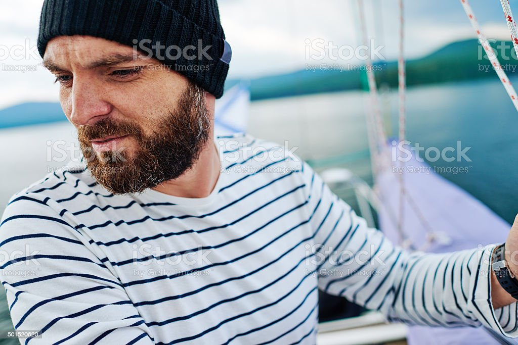 Routine of sailor stock photo