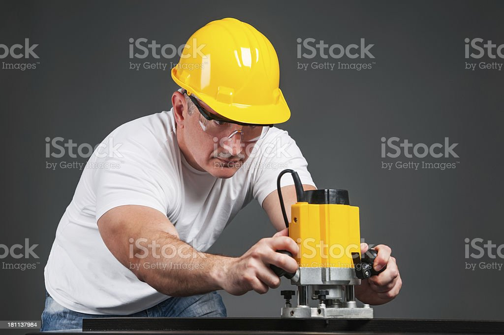 Routing wood royalty-free stock photo