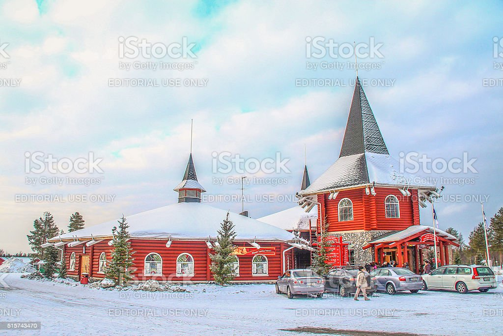 Rovaniemi, Finland - March 02, 2014 - Santa Clause office stock photo