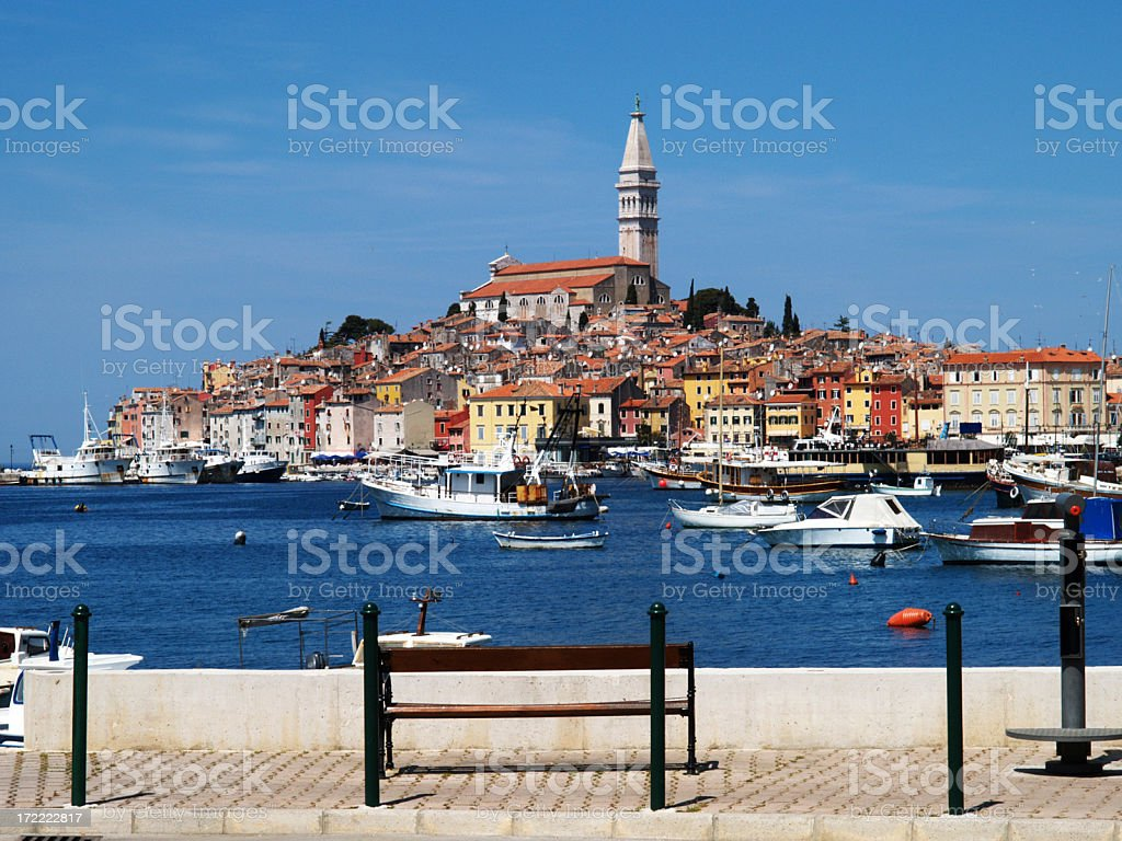 Rovinj Harbor stock photo
