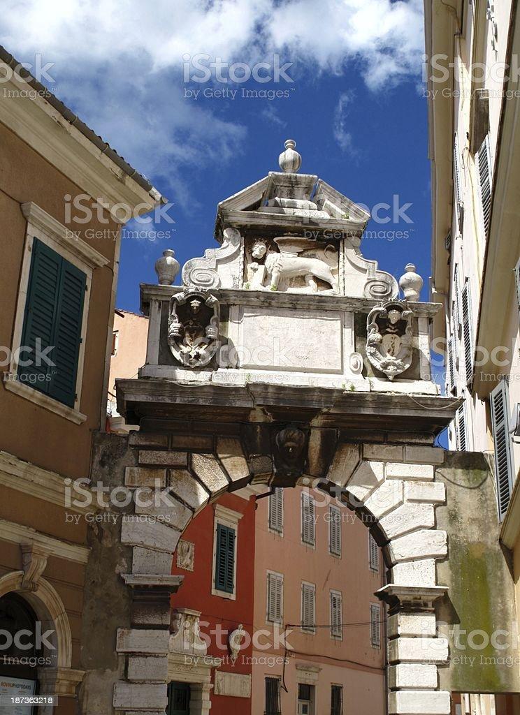 Rovinj in Croatia stock photo