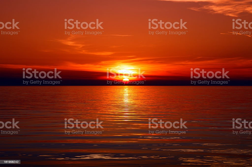 Rovinj sunset royalty-free stock photo