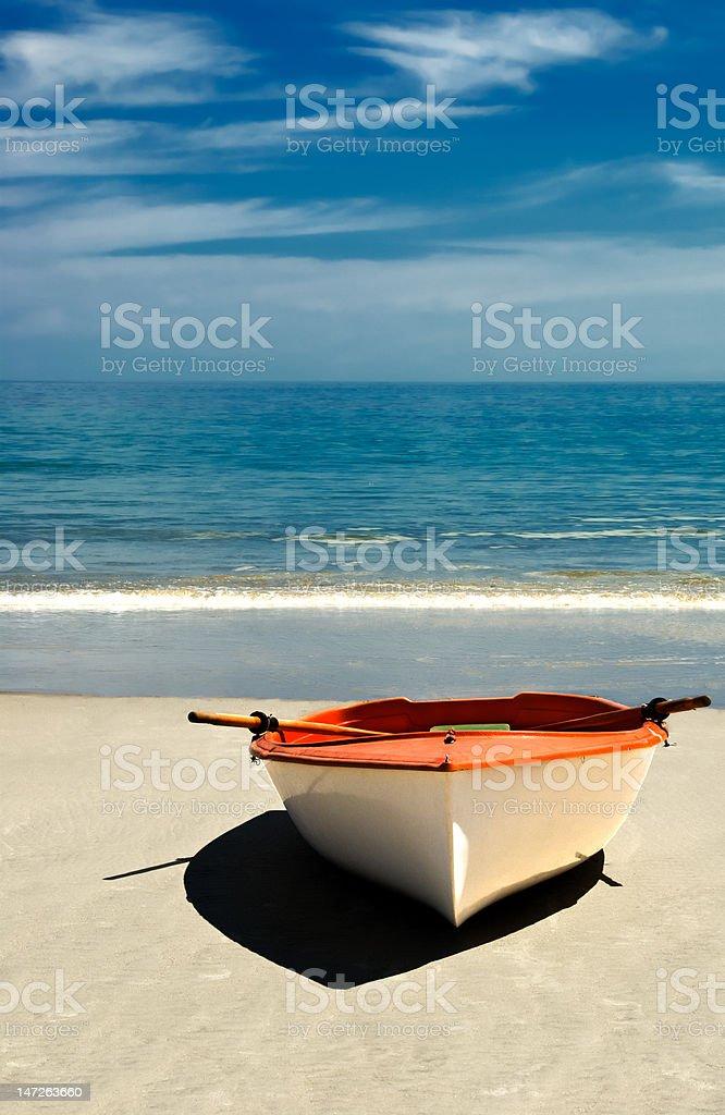 Row Boat on the Beach. royalty-free stock photo