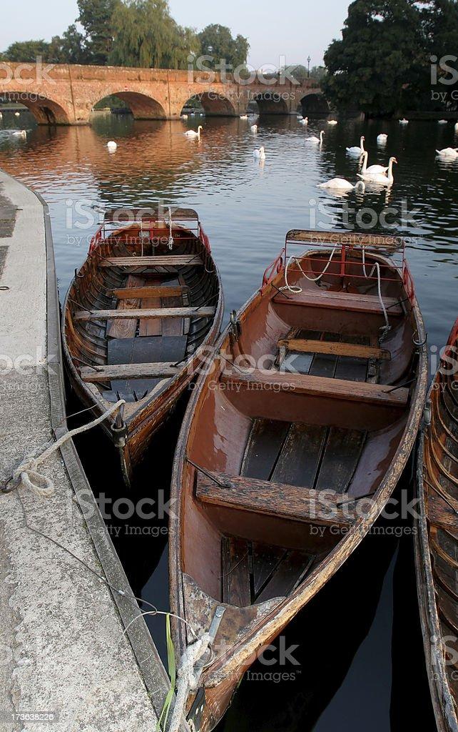 Row Boats at Stratford Upon Avon stock photo