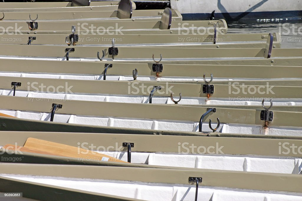 Row Boats on the River Dee royalty-free stock photo