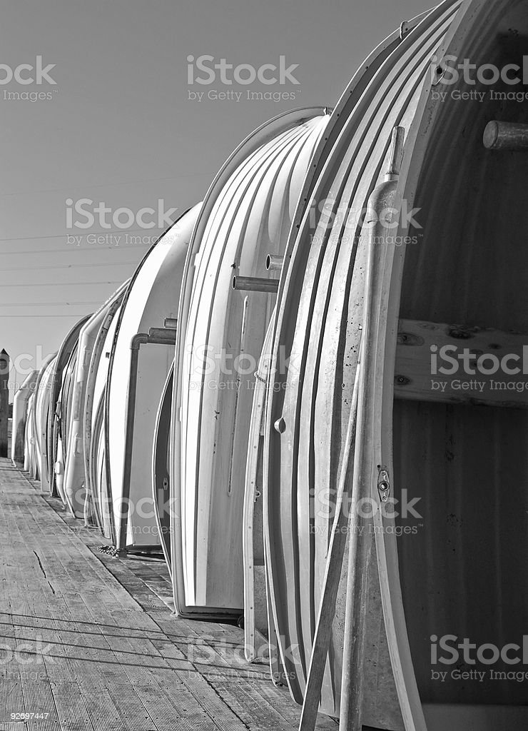 Row Boats royalty-free stock photo