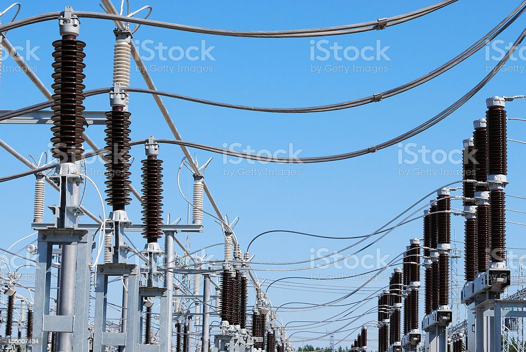 Row current transformers of a high voltage royalty-free stock photo