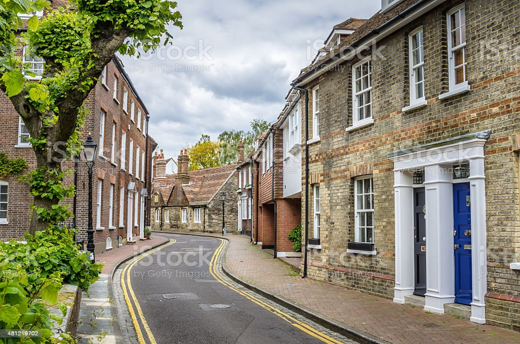 Row fo Terraced Houses in England stock photo