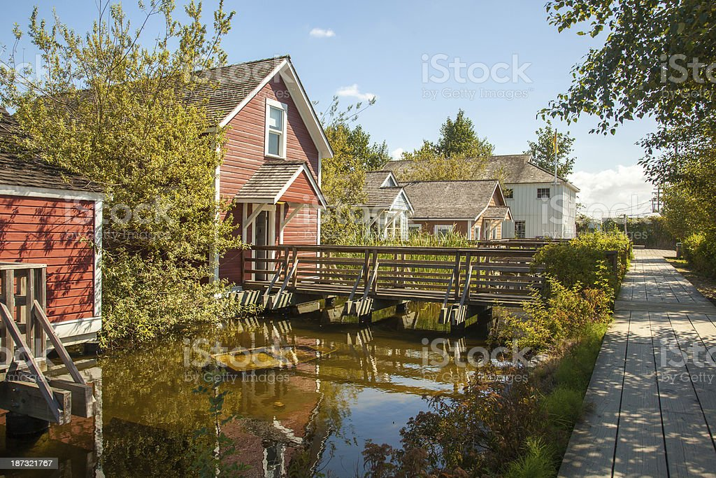 Row Houes at the Cannery stock photo