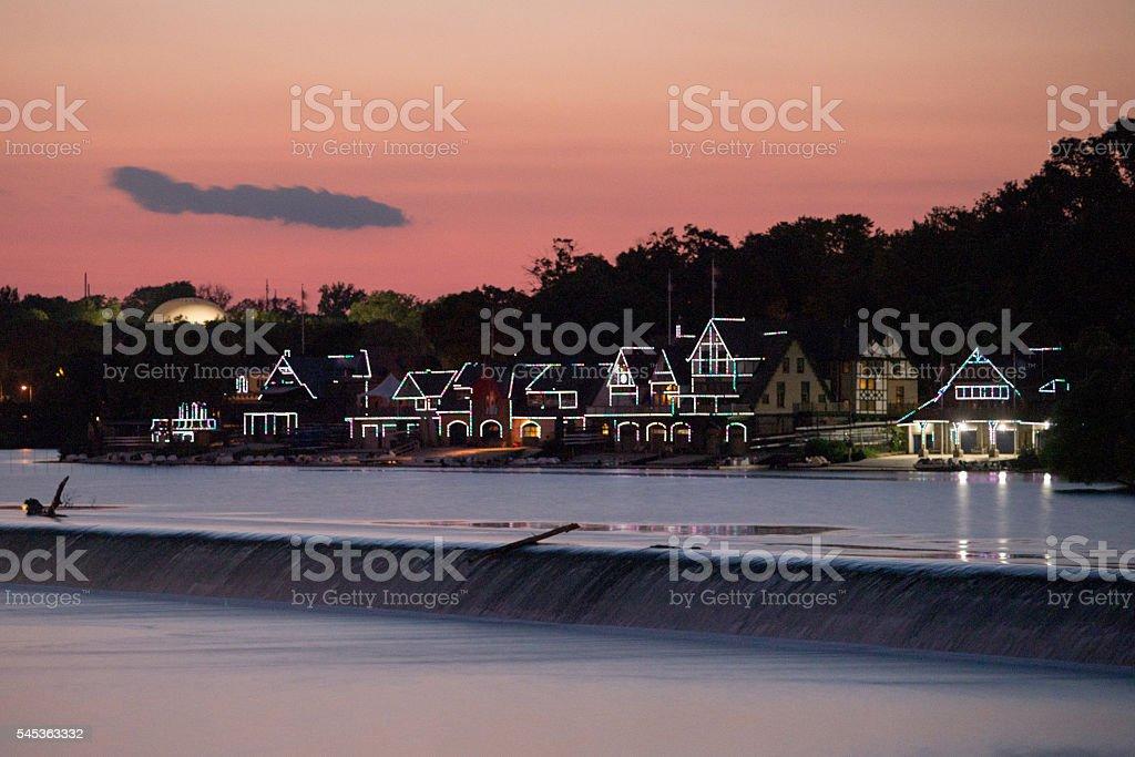 Row House Sunset stock photo