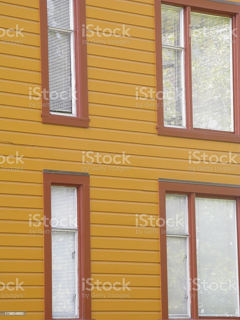 Row House Windows Facade royalty-free stock photo