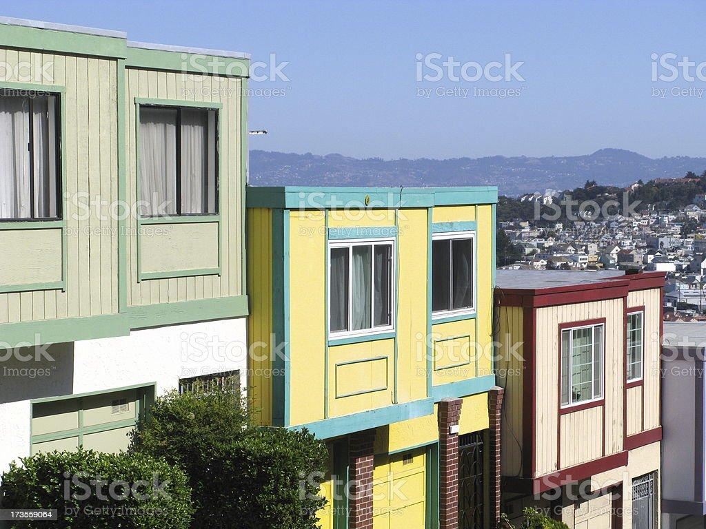 Row Houses California royalty-free stock photo