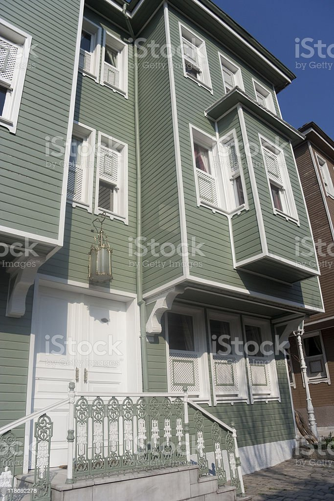 Row Houses in Istanbul royalty-free stock photo