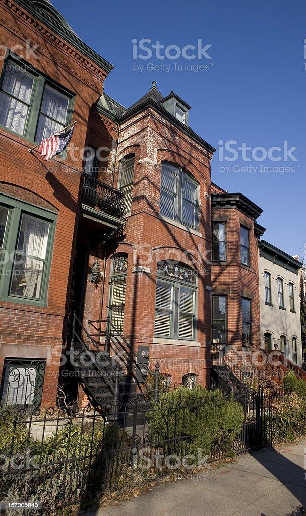 Row Houses in Washington DC royalty-free stock photo