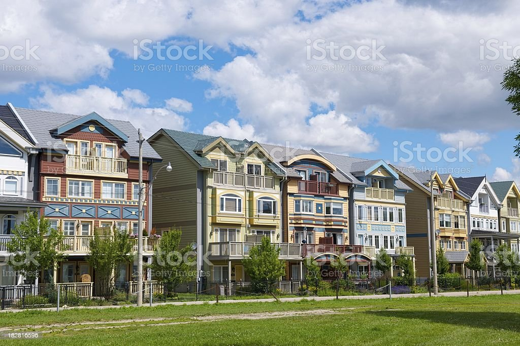 Row Houses on a residential street royalty-free stock photo