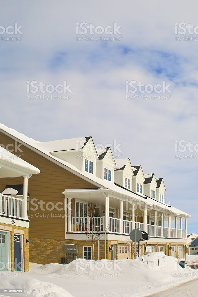 Row Houses on a Sunny Day stock photo