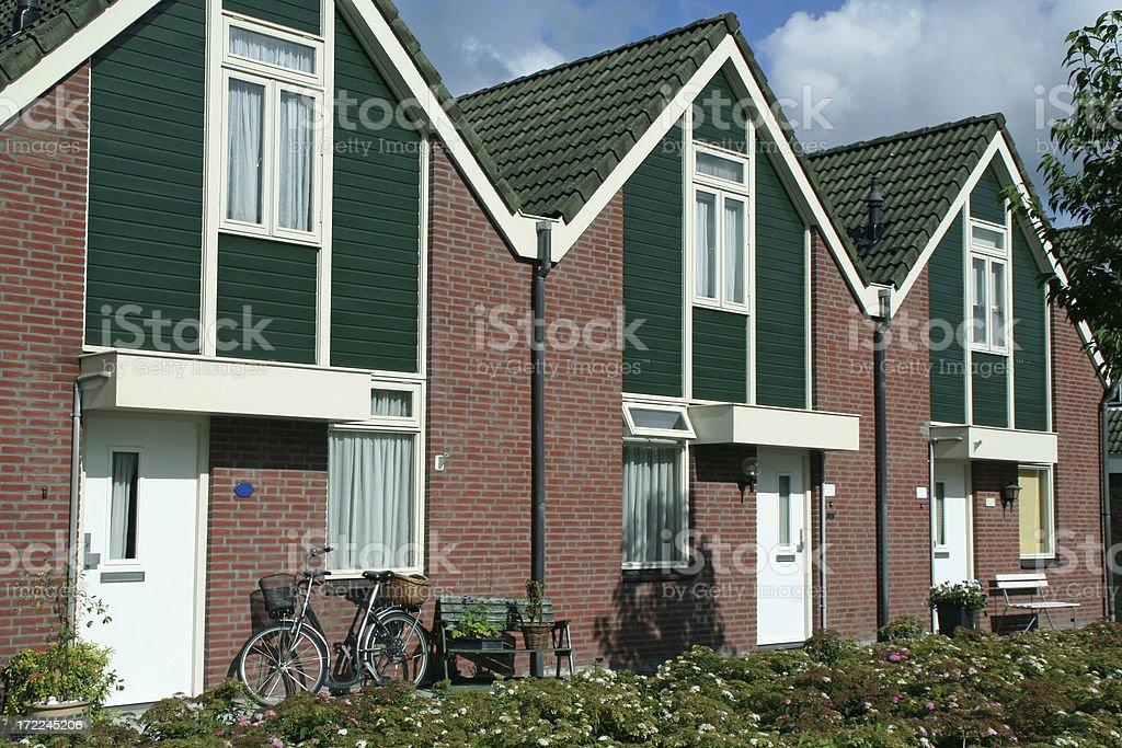 Row new suburban houses # 1 royalty-free stock photo